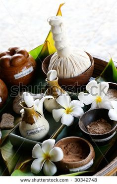 stock photo : Spa products from tropical Thailand