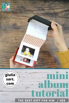 Diy Gifts Videos, Diy Crafts For Gifts, Diy Videos, Picture Boxes, Picture Gifts, Picture Albums, Birthday Gifts For Boyfriend Diy, Anniversary Gift Ideas For Him Diy, Handmade Gifts For Girlfriend