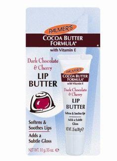 Palmer's Cocoa Butter Formula, Dark Chocolate & Cherry Lip Butter, 1 tube.