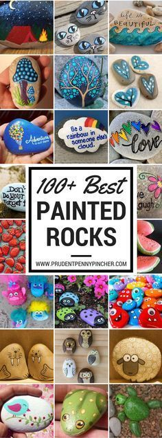 100 Best Painted Rocks crafts. This will be fun for the kids.