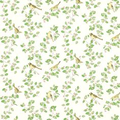 Love this so much - it's on my bedroom walls and makes me feel instantly calm! Laura Ashley Aviary Garden Apple Green Wallpaper
