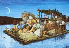 Trolls and gnomes. - Юлия К - Веб-альбомы Picasa Creation Photo, Elves And Fairies, Scandinavian Gnomes, Children's Book Illustration, Fantasy Creatures, Faeries, Illustrations Posters, Illustrators, Fantasy Art