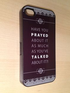 Iphone 4 4S cover case black Christian Have by ActsChristianGifts, $16.99  great reminder!