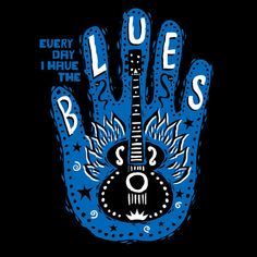 12x12 Framed Canvas print  Blues hand  every day by MojohandBlues