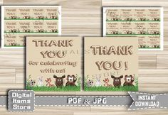Printable Baby Shower Thank You Tag Woodland - Thank You Tag Woodland - Thank You Tag - Woodland Favor Thank You Tag - Instant Download by DigitalitemsShop on Etsy