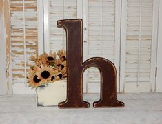 Letter H Wall Decor large wooden letter t distressed 23 inch wood letters made to