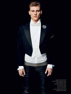 Think Black. Mikkel Jensen. Stylist: Sebastian Machado. Pic: Hasse Nielsen. Cover Man 2012. #menswear #fashion