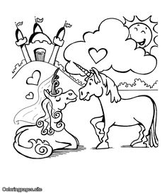 Unicorn online coloring for kids with online coloring tools Monkey Coloring Pages, Unique Coloring Pages, Heart Coloring Pages, Unicorn Coloring Pages, Fairy Coloring Pages, Alphabet Coloring Pages, Coloring Pages For Kids, Coloring Books, Online Coloring For Kids