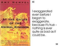 At the Gates of the Animal Kingdom by Amy Hempel | 46 Brilliant Short Novels You Can Read In A Day