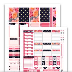 Pretty in Pink Planner Stickers