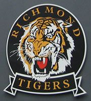 All about the Richmond Football CLub, team of the Aussie Rules Football League (AFL) Richmond Afl, Richmond Football Club, Cricket Logo, Australian Football League, West Coast Eagles, Men's Football, Goalkeeper, Birthday Greetings, Fathers