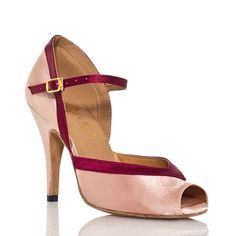 CRC Women's Peep toe Mary Jane Satin Dance Shoes ** Read more reviews of the product by visiting the link on the image.