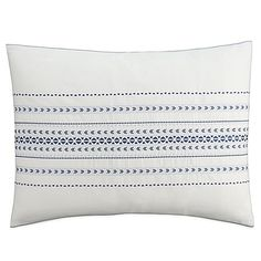 Create a calming oasis in your bedroom with the sensational Cupcakes and Cashmere Indigo Stripe Pillow Sham. Showcasing a soothing indigo stripe in an opulent blue shade, this pleasing pillow sham exudes unrivaled style. Free shipping on orders over $29.