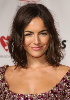 Messy medium curly bob hairstyle for women - Camilla Belle hairstyle