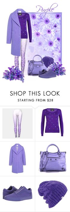 """""""Totally Purple"""" by savousepate ❤ liked on Polyvore featuring Boutique Moschino, Carven, Balenciaga, Vans, Coal, Winter, purple, plum, lavender and lilac"""