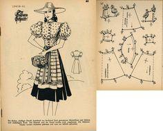 1940s (1941) German Women's Dirndl Lutterloh 1941B-41