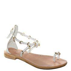 #Sandalo basso fondo cuoio con cinturino che blocca l'alluce realizzato in pelle bianca di #suite159  http://www.tentazioneshop.it/scarpe-suite-159/sandalo-s14114-bianco-suite-159.html
