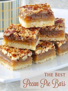 The Best Pecan Pie Bars. So quick & easy to prepare.