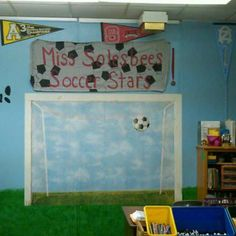 Sports Themed Elementary Classroom Decorating Ideas | Classroom setting Sports theme classroom and Teacher education & Sports Themed Elementary Classroom Decorating Ideas | Classroom ...