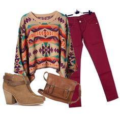 Love this outfit idea from Chevron Stitches