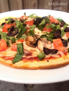 Cream Cheese Crust Pizza - (low carb, gluten free) - Could have this in Phase III