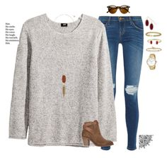 """""""•♥️♥️♥️♥️♥️♥️•"""" by mgpayne10 ❤ liked on Polyvore featuring Current/Elliott, H&M, Kendra Scott, David Yurman, Hoorsenbuhs, Kate Spade, H by Hudson and Love Quotes Scarves"""