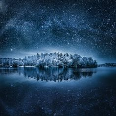 """Winterland II - Wishing you all a very great and happy New Year! Take a care!  Second one of my """"winterland"""" series. Composite of 2 exposures. Hope you like it!"""