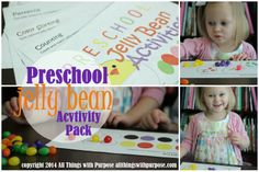 Jelly Bean Printable Pack {Preschool Contributors} ~ Sugar Bee Crafts