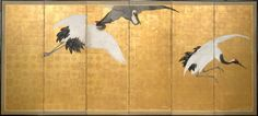 Cranes, (circa 1770-circa 1772) by Maruyama ÔKYO :: The Collection :: Art Gallery NSW