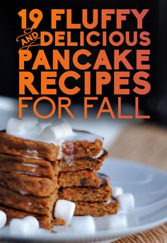 19 Fluffy & Delicious Pancake Recipes for Fall Sweet Potato Pancakes, Tasty Pancakes, Pancakes And Waffles, Pumpkin Pancakes, Yummy Pancake Recipe, Pancake Recipes, Cooking Recipes, Yummy Food, Pancake Ideas