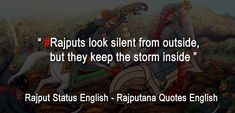 No one can live royal life like Rajputana. You will enjoy Rajput Status in English for Whatsapp. So share such rajput quotes pics, images and photos Attitude Quotes In English, Attitude Status, English Quotes, Me Time Quotes, Love Me Quotes, Kali Picture, Rajput Quotes, Hindu Quotes, Deep Thought Quotes