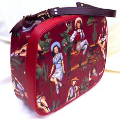 Unique Red Cowgirl Decorated Upcycled Vintage by lovekittypink, £180.00