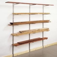 lumber storage...aren't these closet organizers without the shelves?