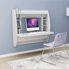 The Small Space's Saving Grace: Floating Computer Desk With Storage