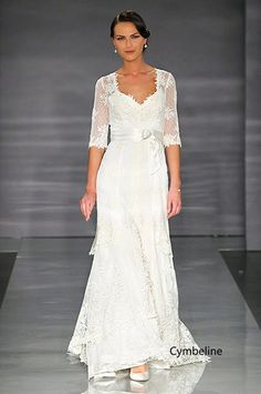 2f30c553a8f lace wedding dress with sleeves Wedding Dress Suit
