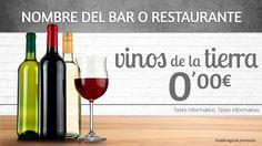 Pizarra digital con los vinos.