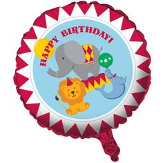 Creative Converting Circus Time Two Sided Mylar Foil Round Balloon -- Visit the image link more details.