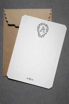 Simple and feminine. Love the tradition of monogrammed stationary.