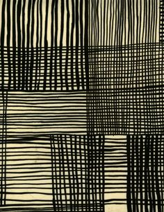 luli sanchez black and white abstract pattern—love the cross hatching