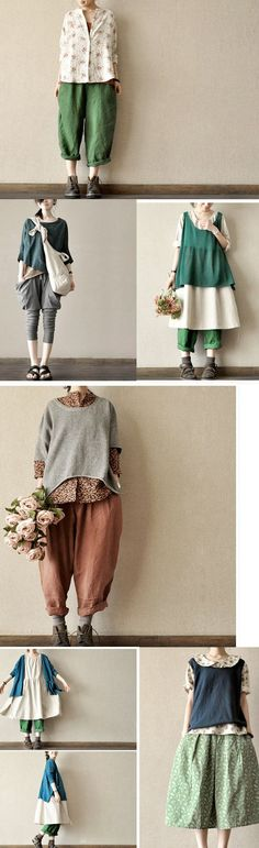 japanese fashion love Japanese style Ive wanted culottes like these but havent made them Japanese Fashion, Asian Fashion, Japanese Style, Japanese Clothing, Mori Girl Fashion, Womens Fashion, Fashion Kids, Fashion Outfits, Grunge Outfits