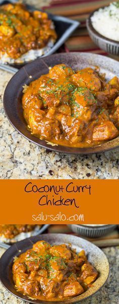 Coconut Curry Chicken, swap vegetable oil with coconut oil and the tomatoes with low carb tomatoes/sauce.