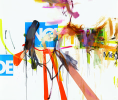 Untitled, 2014, oil and paper on canvas, 90½ by 106¼ inches. Courtesy Gagosian Gallery.  The Accidental Abstractionist - Magazine - Art in America