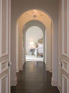 Stunning corridor leading to master bedroom.