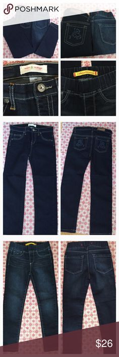 3💛Listings for $30💛 Little Girl Size 6x Jeans Amazing Bundle of 2 pairs of Excellent Condition jeans size 6x including a pair of Catherine Malandrino Stretch Elastic Waist Band Skinny Jeans and  a pair of Mini & Maggie accented pocket jeans. .. Simply offer $6 less so it's me covering your shipping cost. This is my gift to you through 12-31-16. Mimi & Maggie Bottoms Jeans