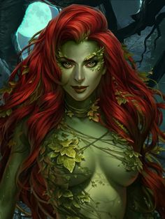 fantasy and science fiction - Poison Ivy Comic, Poison Ivy Batman, Dc Poison Ivy, Poison Ivy Dc Comics, Gotham Girls, Marvel Girls, Comics Girls, Harley Quinn Comic, Joker And Harley