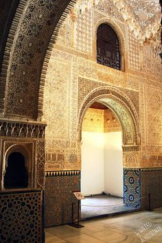 Islamic art, Alhambra palace walls, Granada, Spain #5 by Waleed Alhusseinan, via Flickr