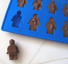 Forma Em Silicone Para Gelo Ou Chocolate Bonecos De Lego! Mercado livre