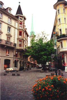 niederdorf square, Zurich, Switzerland