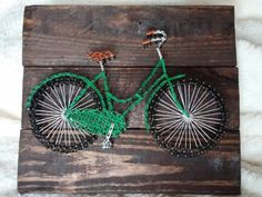Bicycle String Art by JDavisCreations on Etsy