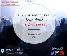 Rejoignez-nous à l'un de nos cultes et découvrez la #Joie du Seigneur, la joie d'être délivré, guéri et restauré!  9h30-11h 14h30-16h Tel: 46451997